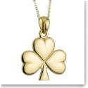 Cashs Ireland, 18K Gold-Plated Shamrock Pendant Necklace