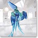 Swarovski Paradise Blue Parrots Sculpture