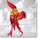 Swarovski Paradise Red Parrots Sculpture