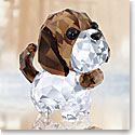 Swarovski Crystal, Puppy Bernie The Saint Bernard