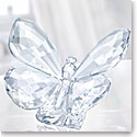 Swarovski Crystal, Butterfly On Leaf, Clear