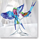 Swarovski Crystal Paradise Lilac-Breasted Rollers Sculpture