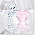 Swarovski Crystal, Kris Bear with Pink Heart