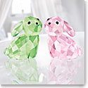 Swarovski Crystal, Lovlots Bunny Rabbits In Love George and Georgina