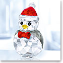 Swarovski Crystal, Christmas Rocking Penguin Crystal Figure