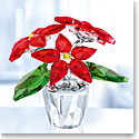 Swarovski Crystal, Small Poinsettia Crystal Figure
