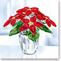 Swarovski Crystal, Large Poinsettia Crystal Figure