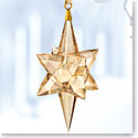 Swarovski Crystal, 2017 Gold Tone Star Crystal Ornament, Large