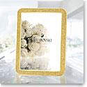 "Swarovski Crystal, Minera Gold Tone 5x7"" Picture Frame"