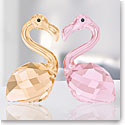 Swarovski Crystal, Lovlots Flamingos In Love, Claude and Claudine