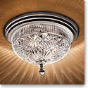 "Waterford Crystal, Beaumont Silver 12"" Ceiling Fixture"