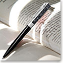 Swarovski Stellar Ballpoint Pen, Black and Rhodium