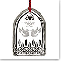 Waterford Crystal, 12 Days of Christmas Lismore Two Turtle Doves Ornament