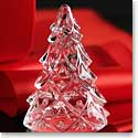 Waterford Crystal, Large Christmas Crystal Tree Crystal Sculpture, Clear