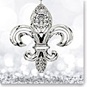 Waterford Crystal, 2017 Fleur De Lys Crystal Ornament