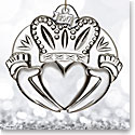 Waterford Crystal, 2017 Claddagh Crystal Ornament