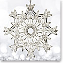 Waterford Crystal, 2017 Annual Snow Crystal Pierced Crystal Ornament