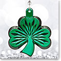Waterford Crystal, 2017 Green Shamrock Crystal Ornament