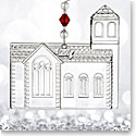 Waterford Crystal, 2017 Dimensional Church Crystal Ornament
