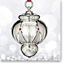Waterford 2017 Silver Lismore Bauble Ornament