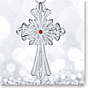 Waterford 2017 Silver Annual Crystal Cross Ornament