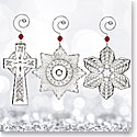Waterford Crystal, 2017 Mini Crystal Ornaments, Set of Three