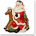 Waterford 2017 Holiday Heirloom Rocking Horse Santa Cookie Jar