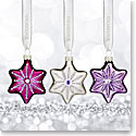 Waterford 2017 Holiday Heirloom Sensations Snowflake Ornament, Set of Three