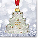 Waterford 2017 Holiday Heirloom Our First Christmas Cake Ornament