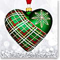 Waterford 2017 Holiday Heirloom Plaid Heart Ornament