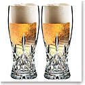 Waterford Lismore Pint Beer Glass, Pair