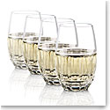 Waterford Crystal, Bolton Stemless Crystal White Wine Glasses, Set of Four