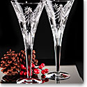 Waterford Crystal, Heritage Christmas Night Toasting Crystal Flutes