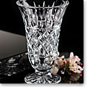 "Waterford Crystal, Dunston 10"" Footed Crystal Vase"
