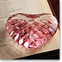 Waterford Crystal, Giftology Pink Heart Crystal Paperweight