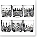Waterford Crystal, Heritage Straight Sided Crystal Whiskey Tumbler, Set of Six
