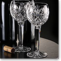 Waterford Crystal, Huntley Hock Crystal Wine Glasses, Pair