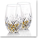 Waterford Crystal, Huntley Stemless White Wine Glasses, Pair