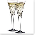 Waterford Crystal, Huntley Celebration Toasting Crystal Flutes, Pair