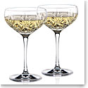 Waterford Huntley Champagne Cocktail Coupe Glass, Pair
