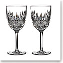 Waterford Crystal, Lismore Diamond Crystal White Wine, Pair