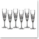 Waterford Crystal, Lismore Diamond Crystal Flute, Boxed Set 5 1 Free