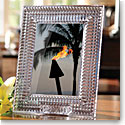 "Waterford Lismore Diamond 5x7"" Crystal Picture Frame"