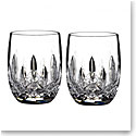 Waterford Crystal, Lismore Rounded Crystal Whiskey Tumblers, Pair