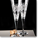 Waterford Crystal, Saunders Toasting Crystal Flutes, Pair