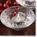 Waterford Crystal, Christmas Snowman Tealight Crystal Votives, Pair
