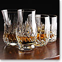 Waterford Crystal Lismore Whiskey Tumblers Mixed Set of Four