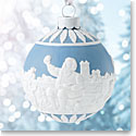 Wedgwood 2017 Santa's Workshop Blue Ornament