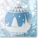 Wedgwood Winter Scene Ornament