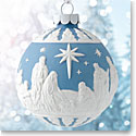 Wedgwood 2018 Nativity Blue Ornament